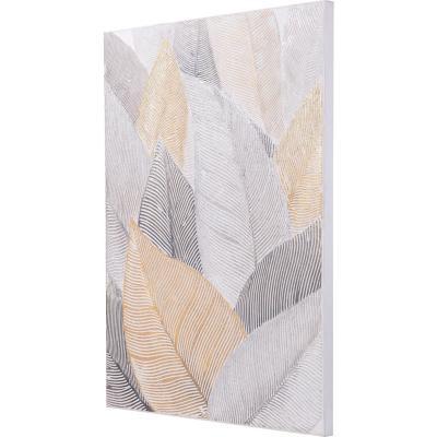 Óleo hojas doradas 120x90 cm