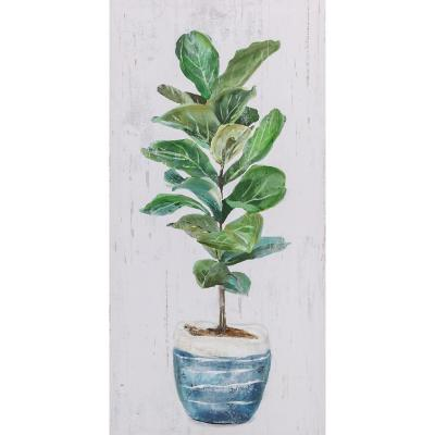Canvas planta verde 2 60x30 cm