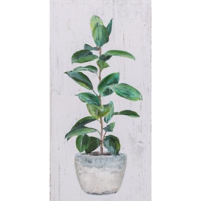 Canvas planta verde 1 60x30 cm