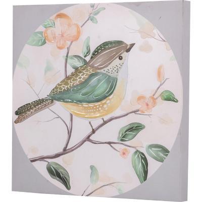 Canvas pájaro circulo 3 30x30 cm