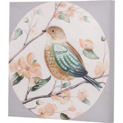 Canvas pájaro circulo 2 30x30 cm