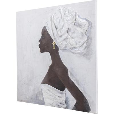 Óleo africana novia 100x100 cm