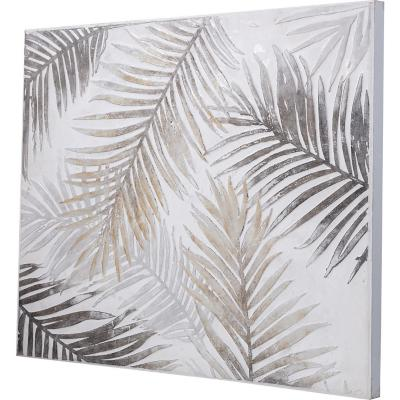 Óleo plantas marrón 80x100 cm