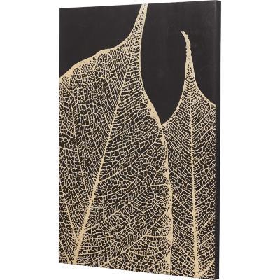 Canvas hoja dorada 1 70x50 cm