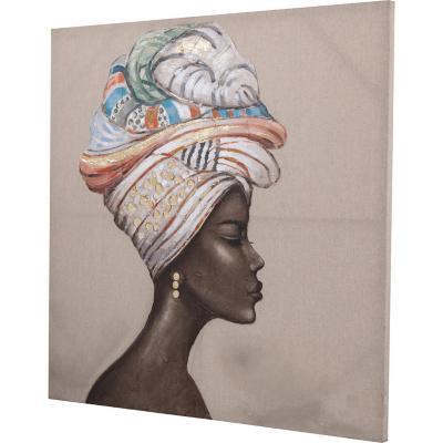 Óleo mujer africana 2 100x100 cm