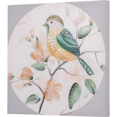 Canvas pájaro circulo 1 30x30 cm