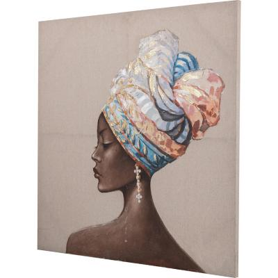 Óleo mujer africana 1 100x100 cm