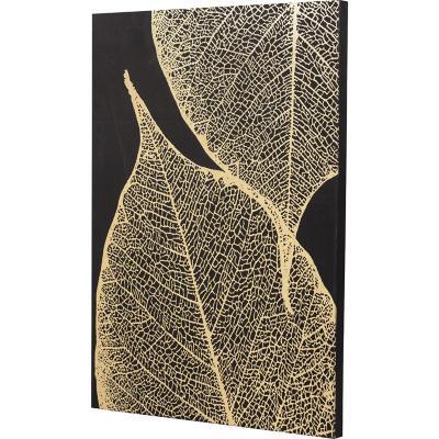 Canvas hoja dorada 2 70x50 cm