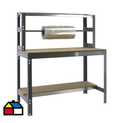 Mesa de trabajo 144,5x121x76 cm metal