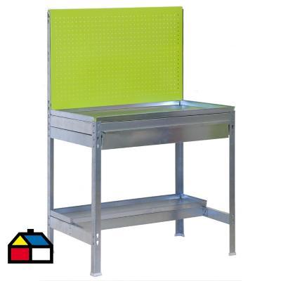 Mesa de trabajo 144x90x60 cm metal