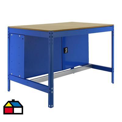Mesa de trabajo 84,2x121x76 cm metal