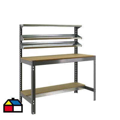 Mesa de trabajo 144,5x91x61 cm metal