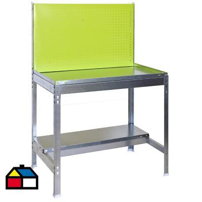 Mesa de trabajo 144x90x40 cm metal