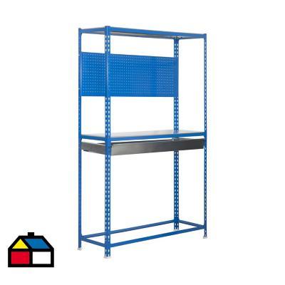 Mesa de trabajo 200x100x40 cm metal