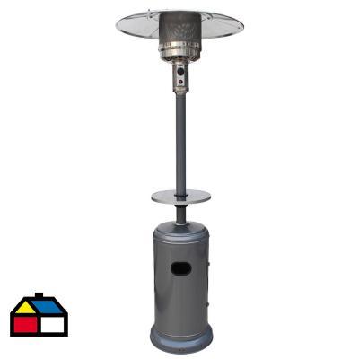 Estufa de patio gas licuado 11 kg gris con mesa