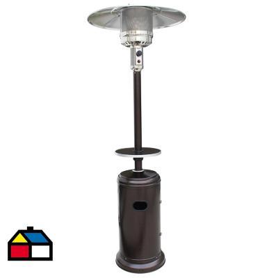 Estufa de patio gas licuado 11 kg bronce con mesa