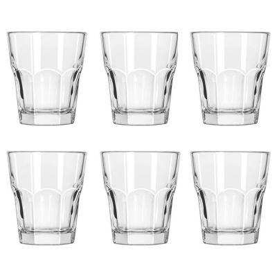 Set vasos de vidrio 266 cc transparente 6 piezas