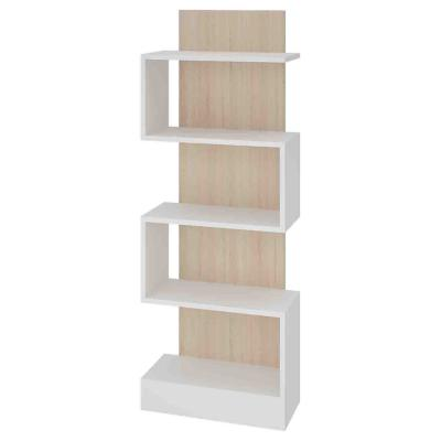 Biblioteca zigzag 20x45x120 cm blanco roble