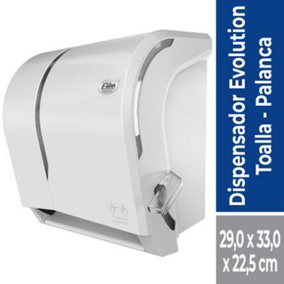 Dispensador toalla palanca blanco