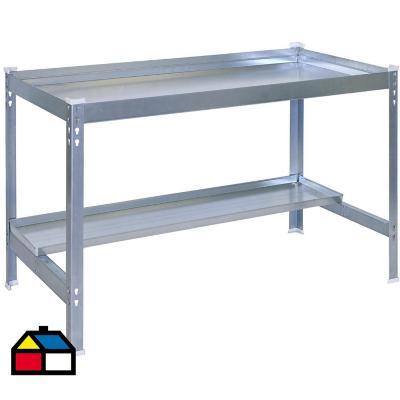 Mesa de trabajo 84x90x60 cm metal