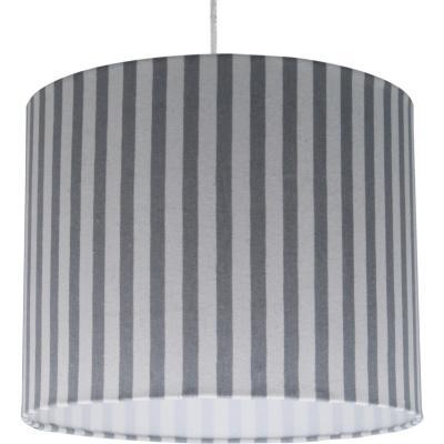 Lámpara colgante líneas gris 1 luz E27