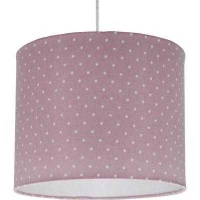 Lámpara colgante puntos rosada 1 luz E27