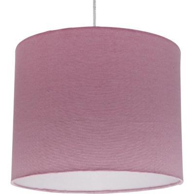 Lámpara colgante lisa rosada 1 luz E27