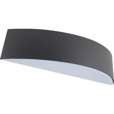 Aplique medio 1 luz exterior E27 gris