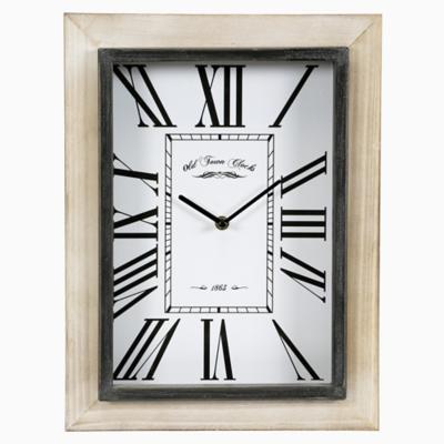 Reloj madera rectangular