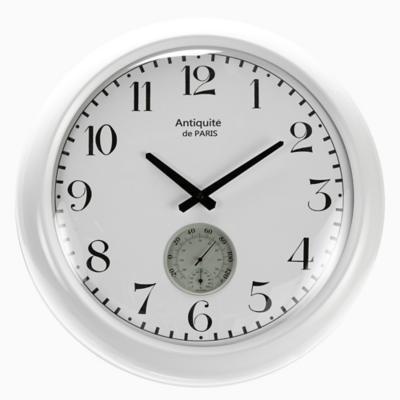 Reloj termómetro white 51 cm