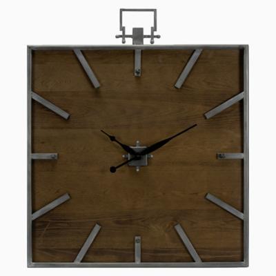 Reloj madera cuadrado
