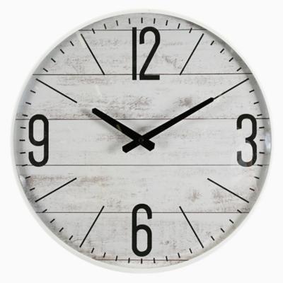 Reloj madera blanco 42 cm