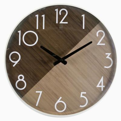 Reloj madera bicolor 42 cm