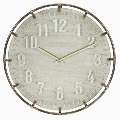 Reloj madera gris 50 cm