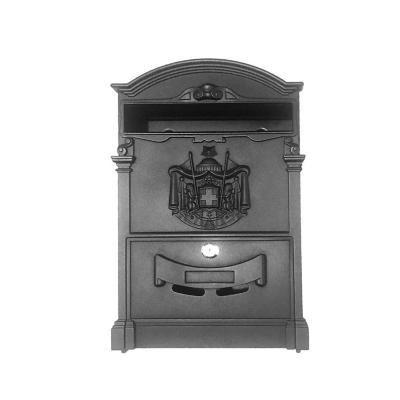 Buzón postal 41x26x10 cm aluminio negro