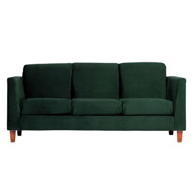 Sofá zante 3 cuerpos 192x85x86 cm verde