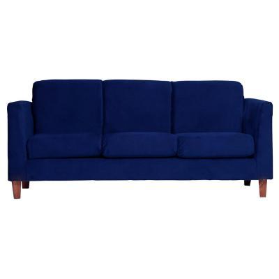 Sofá zante 3 cuerpos 192x85x86 cm azul