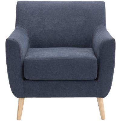 Sitial estilo nordico natural 79X78X77 cm azul