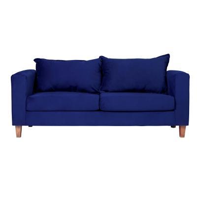 Sofá naxos 3 cuerpos 190x86x76 cm azul