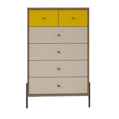 Comoda vertical 123x78x45 cm amarillo