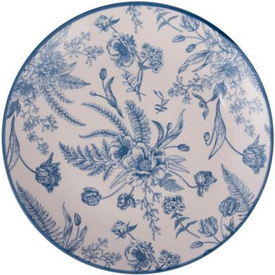 Plato entrada 19 cm redondo azul