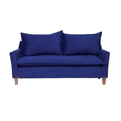 Sofá santorini 3 cuerpos 191x86x81 cm azul