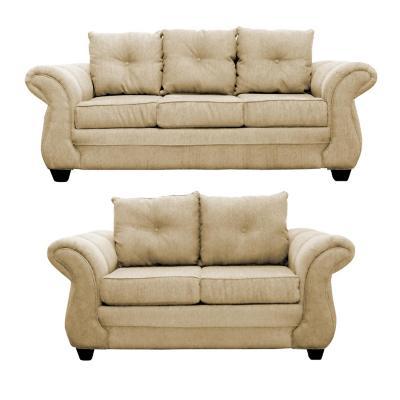 Juego de living Bertolucci sofá 3 cuerpos + 2 cuerpos beige