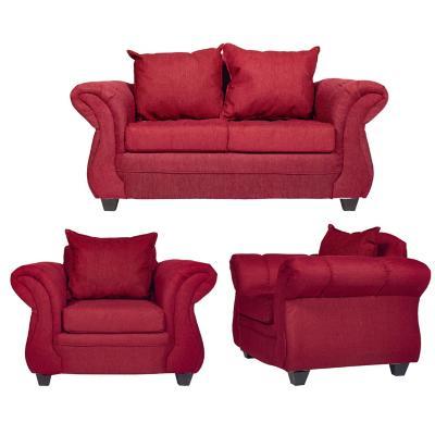 Juego de living Bertolucci 2 cuerpos + 2 sillones rojo