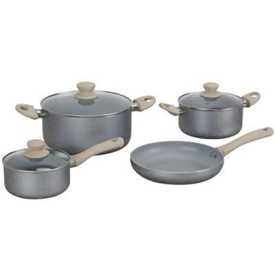 Batería de cocina 7 piezas aluminio gris