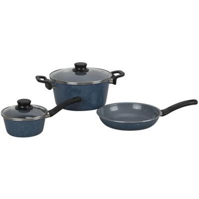 Batería de cocina 5 piezas cerámica azul