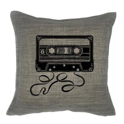 Funda Cojín Linet gris Cassette 45x45 cm