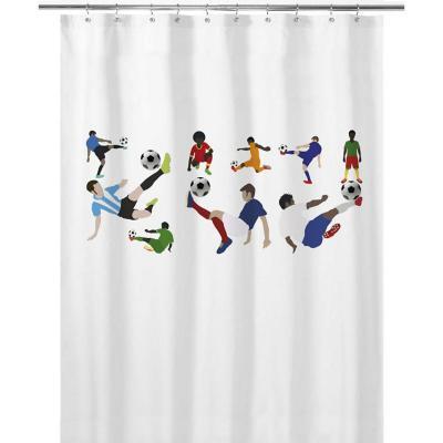 Cortina de baño 180x180 cm futbolistas