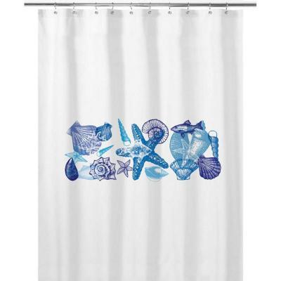 Cortina de baño 180x180 cm conchitas