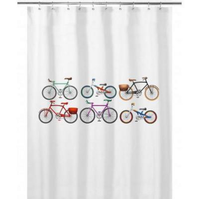 Cortina de baño 180x180 cm bicicletas